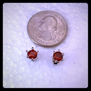NWT Ruby stud sterling silver earring